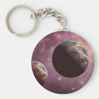Planets in a Pink Universe Key Chains