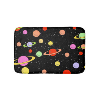 PLANETS IN SPACE BATH MATS