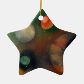 Planets in space ceramic star decoration