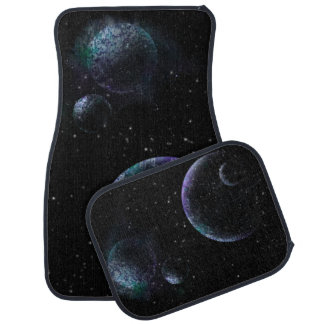 Planets in Universe Car Mat