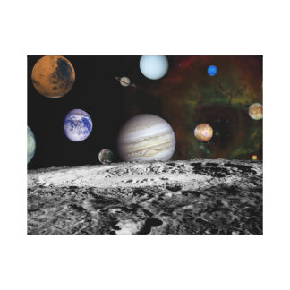 Planets of Solar System in space Stretched Canvas Print