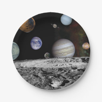 Planets of the solar system 7 inch paper plate
