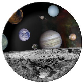 Planets of the solar system plate