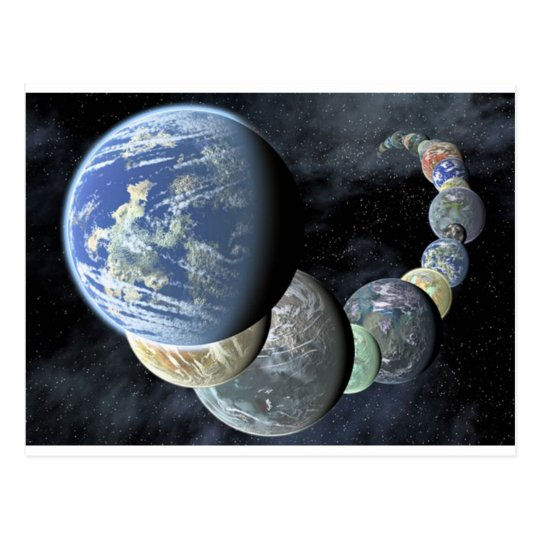 Planets Postcard
