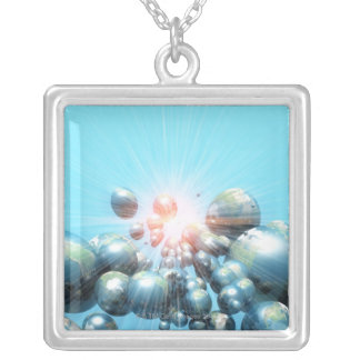 Planets Silver Plated Necklace
