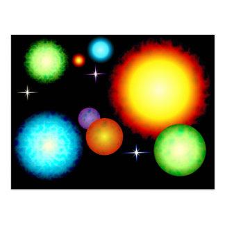 Planets Suns Stars Space Design Postcard