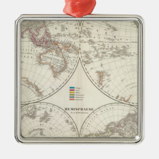 Planiglob der Erde Atlas Map Christmas Ornament