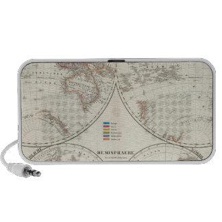 Planiglob der Erde Atlas Map Mp3 Speakers