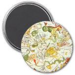 Planisphæri Cœleste 1698 - Astrology Chart #1 Magnets