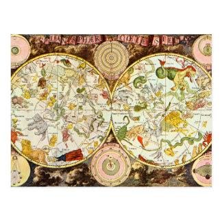 Planisphæri Cœleste 1698 - Astrology Chart Postcard