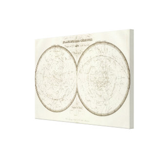 Planispheres celestes - Celestial Canvas Print