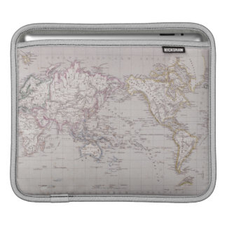 Planispheric Map of the World Sleeve For iPads