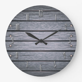 Plank it Wall Clock