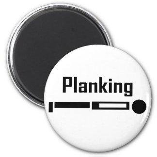 Planking 6 Cm Round Magnet