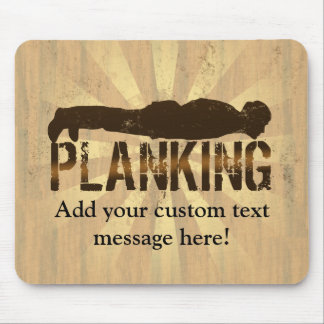 Planking Cool Lying Down Game Mousepad