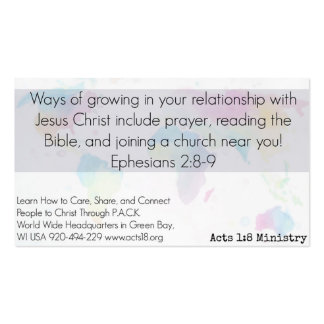 Planned Act of Christian Kindness (P.A.C.K.) Card Pack Of Standard Business Cards