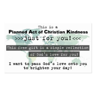 Planned Act of Christian Kindness (P.A.C.K.) Card Business Card Template
