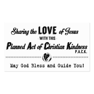 Planned Act of Christian Kindness (P.A.C.K.) Card Business Cards