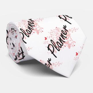 Planner Artistic Job Design with Butterflies Tie