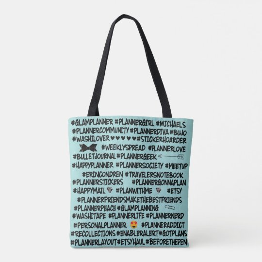 Planner Hashtag Tote Bag