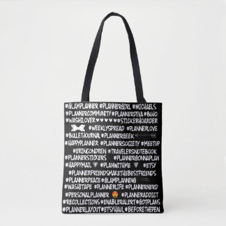 Planner Popular  Hashtag Tote Bag