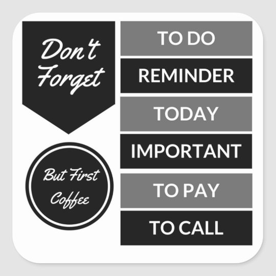 Planner Stickers: Daily Reminder Square Sticker