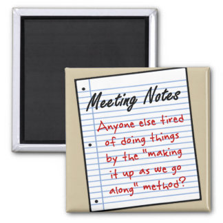 Planning Meeting Square Magnet
