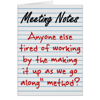 Planning Note Card