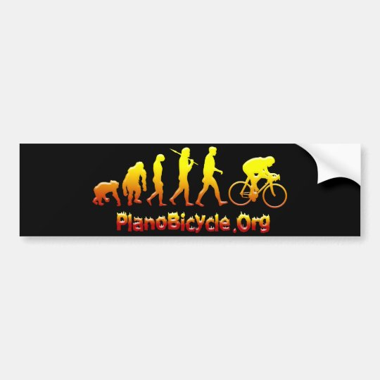Plano Firestarter 3D Cycling Logo Bumper Sticker
