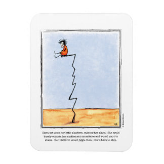 PLANS cartoon by Ellen Elliott Rectangular Photo Magnet