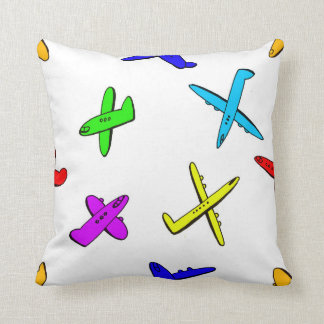 Plans flying in the sky throw pillow