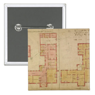 Plans for the Red House, Bexley Heath, 1859 (pen a 15 Cm Square Badge