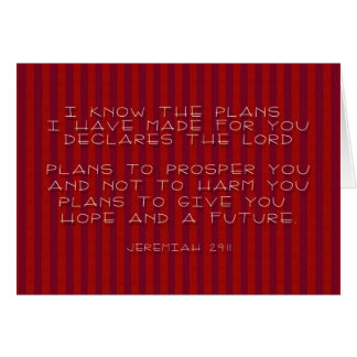 PLANS  II GREETING CARD