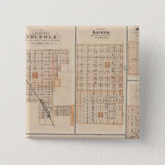 Plans of Atlantic, Osceola, Lewis 15 Cm Square Badge