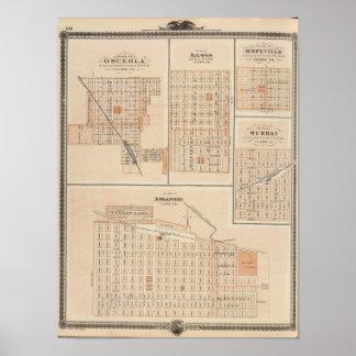 Plans of Atlantic, Osceola, Lewis Poster