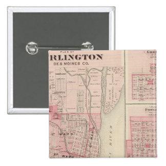 Plans of Burlington, Greenfield 15 Cm Square Badge
