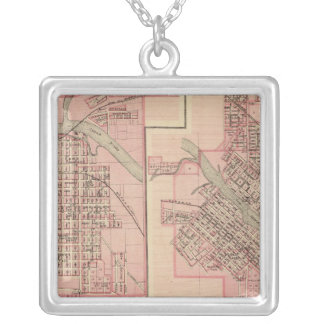 Plans of Cedar Falls 2 Silver Plated Necklace