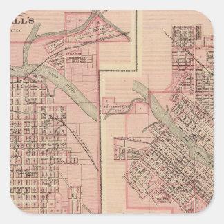 Plans of Cedar Falls 2 Square Sticker