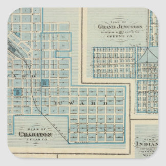 Plans of Chariton, Grand Junction Square Sticker