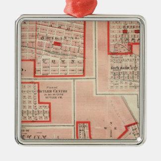 Plans of Cresco Silver-Colored Square Decoration
