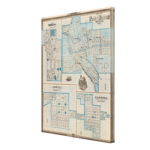 Plans of Fort Dodge, Humboldt Gallery Wrapped Canvas