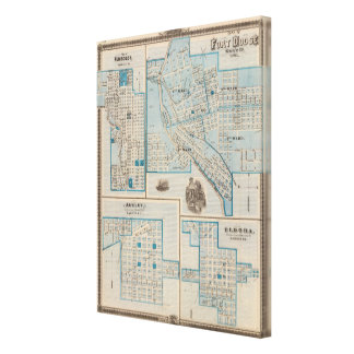 Plans of Fort Dodge, Humboldt Stretched Canvas Print