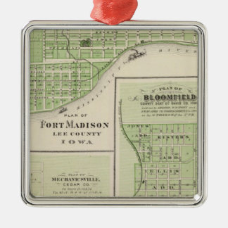 Plans of Fort Madison Christmas Ornament