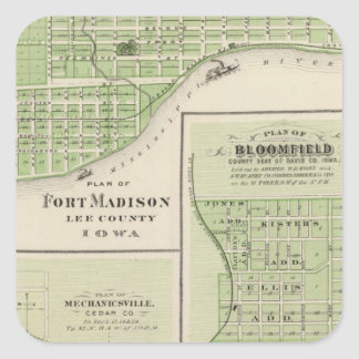 Plans of Fort Madison Square Sticker