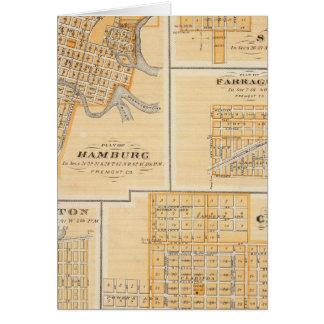 Plans of Hamburg, Sidney, Farragut Greeting Card