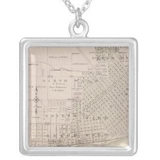 Plans of Keokuk, Forest City Square Pendant Necklace