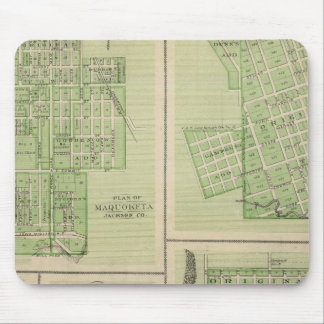 Plans of Maquoketa, Bellevue, Princeton Mouse Mat