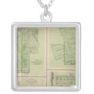 Plans of Maquoketa, Bellevue, Princeton Silver Plated Necklace