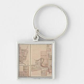 Plans of Monticello, Manchester, Missouri Valley Key Ring
