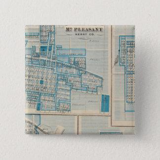 Plans of Mt Plessant, Toledo 15 Cm Square Badge